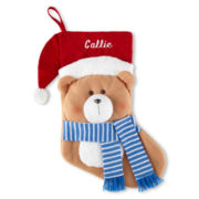 North Pole Trading Co. Santa Bear Stocking + FREE MONOGRAMMING