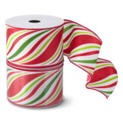 MarthaHoliday™ Christmas Traditions Set of 2 Striped Ribbon