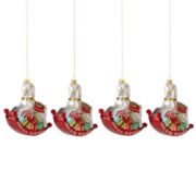 MarthaHoliday™ Christmas Traditions Set of 4 Rocking Horse Ornaments