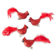MarthaHoliday™ Christmas Traditions Set of 4 Cardinal Clip-On Ornaments