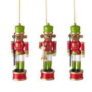 MarthaHoliday™ Christmas Traditions Set of 3 Bear Nutcracker Ornaments