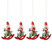 MarthaHoliday™ Christmas Traditions Set of 4 Nutcracker/Rocking Horse Ornaments