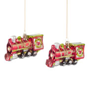 MarthaHoliday™ Christmas Traditions Set of 2 Train Ornaments