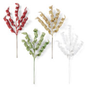MarthaHoliday™ Christmas Traditions Set of 4 Glitter Swirl Picks
