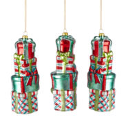 MarthaHoliday™ Christmas Traditions Set of 3 Stack of Gifts Ornaments