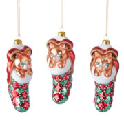 MarthaHoliday™ Christmas Traditions Set of 3 Cat in Stocking Ornaments