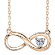 Cubic Zirconia Heart Infinity Pendant