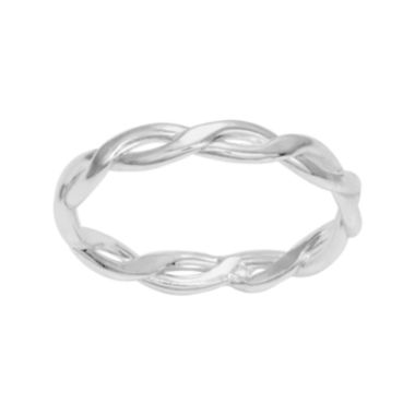 jcpenney.com | itsy bitsy™ Sterling Silver Braided Band Ring