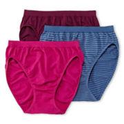 Jockey® Comfies® 3-pk. High-Cut Panties - 3347