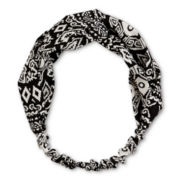 Carole Black Tribal Print Head Wrap
