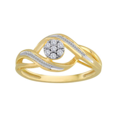 jcpenney.com | diamond blossom 1/5 CT. T.W. Diamond 10K Yellow Gold Cluster Ring