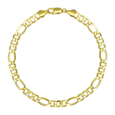 "jcpenney.com | 10K Yellow Gold 22"" Hollow Figaro Chain Necklace"