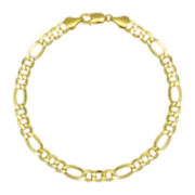 "10K Yellow Gold 22"" Hollow Figaro Chain Necklace"