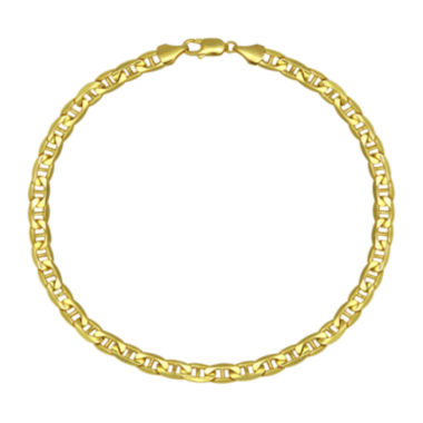 "jcpenney.com | 10K Yellow Gold 9"" Hollow Mariner Chain Bracelet"