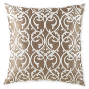 Gothic Elegance Embroidered Decorative Pillow