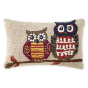 North Pole Trading Co. Owl Oblong Decorative Pillow