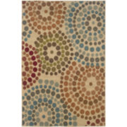 Color Wheel Rectangular Rug