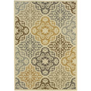 Diamond Medallion Indoor/Outdoor Rectangular Rug