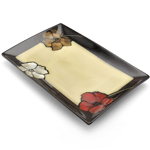 Pfaltzgraff® Painted Poppies Serving Platter
