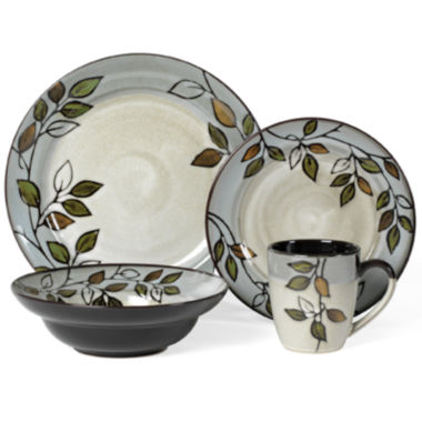jcpenney.com | Pfaltzgraff® Rustic Leaves 16-pc. Dinnerware Set