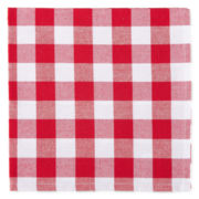 Café Check Set of 4 Napkins