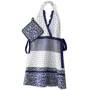 Indigo Apron and Potholder Set