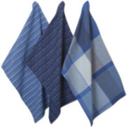 Indigo Tweed Set of 3 Dish Towels