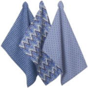 Indigo Geo Set of 3 Dish Towels