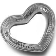 Wilton Armetale® Pearls Heart Dish