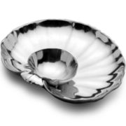 Wilton Armetale® Shells Chip and Dip Server
