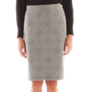 Liz Claiborne Houndstooth Plaid Pencil Skirt
