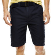 Arizona Belted Flat-Front Shorts