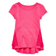 Total Girl® Lace Peplum Top - Girls 7-16 and Plus
