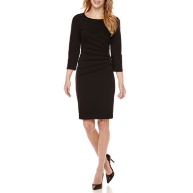 jcpenney.com | Spense 3/4-Sleeve Side-Ruched Sheath Dress