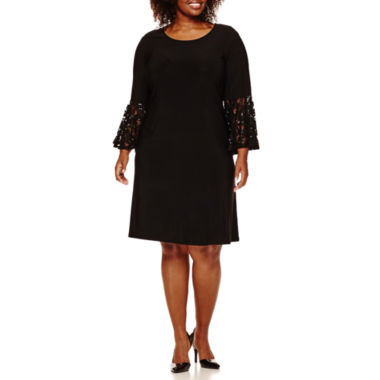 jcpenney.com | R&M Richards Lace-Bell-Sleeve Sheath Dress - Plus