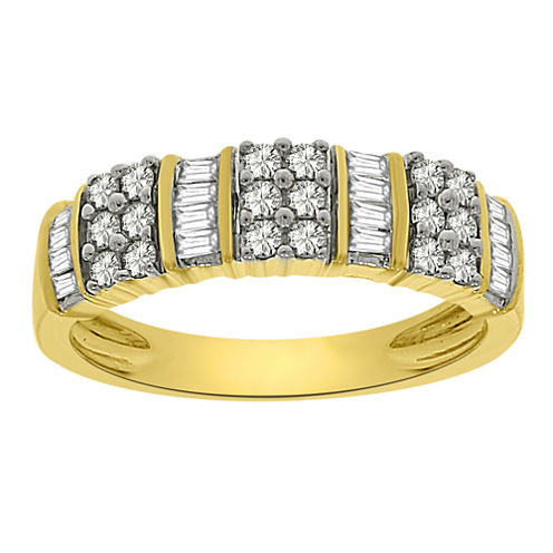 LIMITED QUANTITIES Womens 1/2 CT. T.W. White Diamond 10K Gold Band