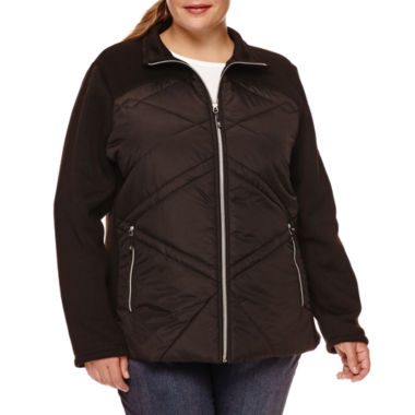 jcpenney.com | Zero Xposur® Hybrid Fleece Jacket - Plus