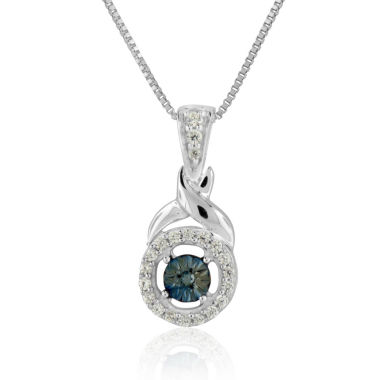 jcpenney.com | Womens 1/8 CT. T.W. Blue Diamond Sterling Silver Pendant Necklace