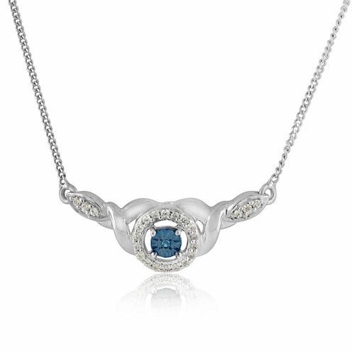 1/8 CT. T.W. Blue Diamond Statement Necklace