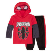 Marvel® Spider-Man 3-pc. Bodysuit and Pants Set - Baby Boys 12-24m