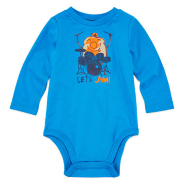 jcpenney.com | Okie Dokie® Long-Sleeve Graphic Cotton Bodysuit