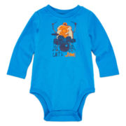 Okie Dokie® Long-Sleeve Graphic Cotton Bodysuit