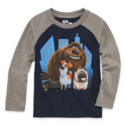 Secrect Life Of Pets Long-Sleeve Raglan Tee - Toddler Boys 2t-5t