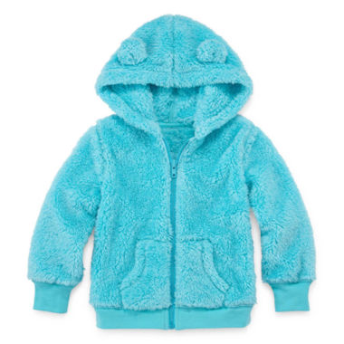 jcpenney.com | Arizona Long-Sleeve Teddy Bear Hoodie - Toddler Girls 2t-5t