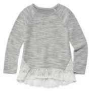 Arizona Long-Sleeve Overlay Top - Preschool Girls 4-6x