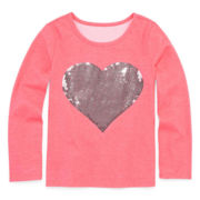 Total Girl® Long-Sleeve Sequin Tee - Preschool Girls 4-6x