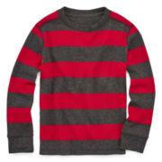Arizona Long-Sleeve Striped Thermal Tee - Preschool Boys 4-7
