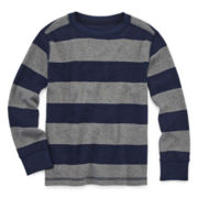 Arizona Long-Sleeve Striped Thermal Tee - Preschool Boys 4-7