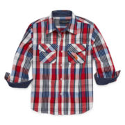 U.S. Polo Assn.® Long-Sleeve Woven Shirt - Preschool Boys 4-7