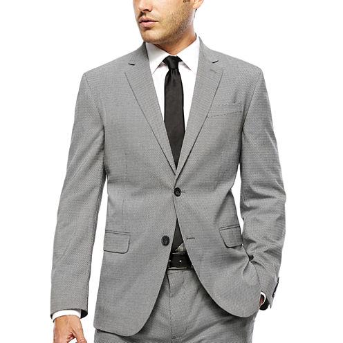 J.Ferrar Slim Fit Checked Suit Jacket
